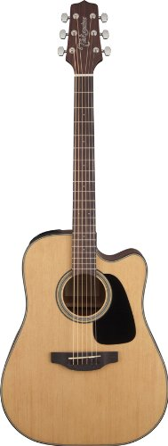Takamine Gd10Ce-Ns Dreadnought Cutaway Acoustic-Electric Guitar, Natural