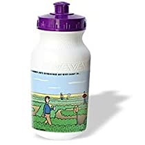 Rich Diesslins Funny Out to Lunch Cartoons - Farmer Joes Soybean Maze - Water Bottles