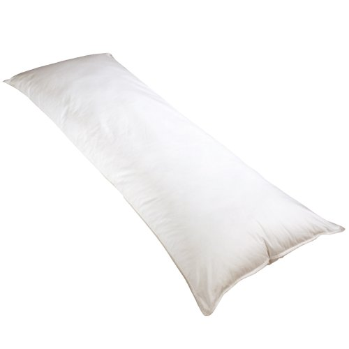 Big Save! Newpoint 100-Percent Cotton 20-Inch-by-54-Inch Body Pillow, White