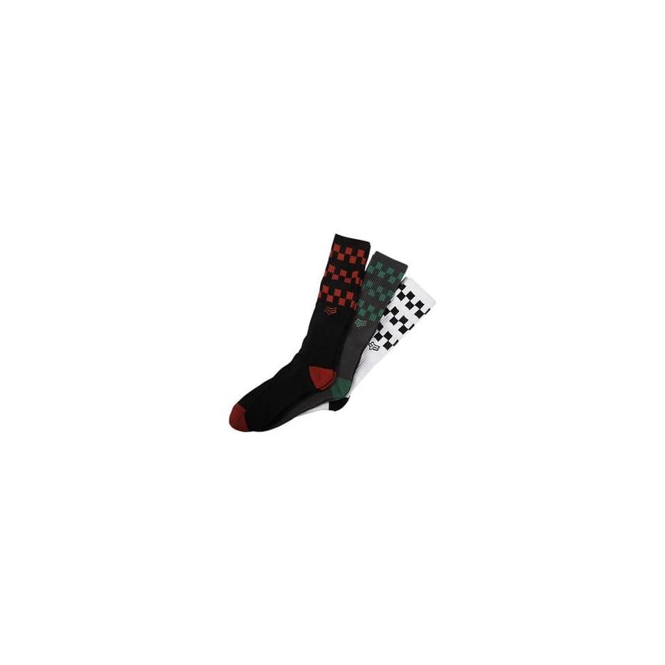 Fox Racing Checks Socks   Large/X Large/Misc