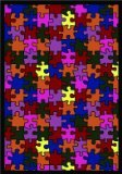 "Joy Carpets Playful Patterns Children's Puzzled Area Rug, Multicolored, 10'9"" x 13'2"""