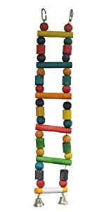 Liberta Wooden Bead Ladder with Bells, 50 cm