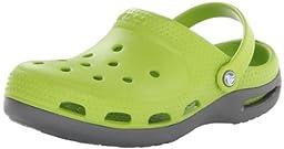 crocs 12213 Duet Plus Clg K Clog (Toddler/Little kid),Volt Green/Graphite,4 M US Toddler