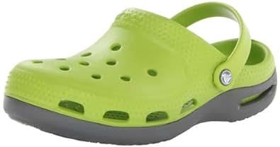 crocs Duet Plus Kids 12213-328-110, Unisex-Kinder Clogs & Pantoletten, Grün (Volt Green/Graphite 328), EU 22-24 (UK C6-7)