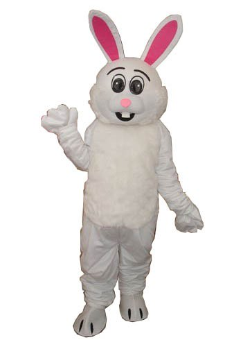 Deluxe Long Plush Pink Ear Rabbit Bunny Mascot Costume