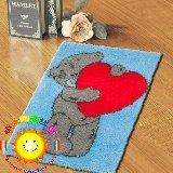 "Latch Hook Rug Kit""Teddy,s Big Heart"" 52 x 38cm"