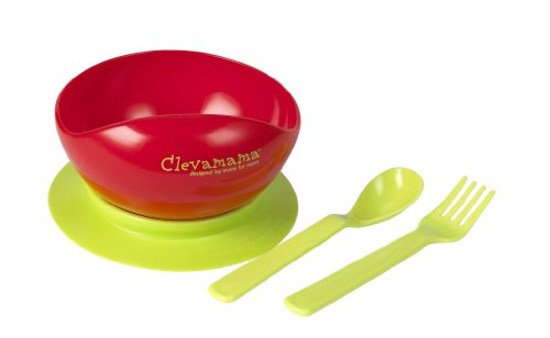 Clevamama Suction Feeding Bowl And Cutlery front-421562