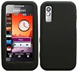 Silicone Case Cover Skin And LCD Screen Protector For Samsung Tocco Lite S5230 / Black