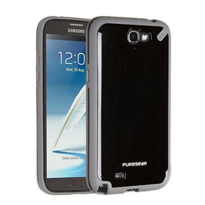 Puregear 60077PG Slim Shell Case for Samsung Galaxy Note 2 - 1 Pack - Retail Packaging - Black