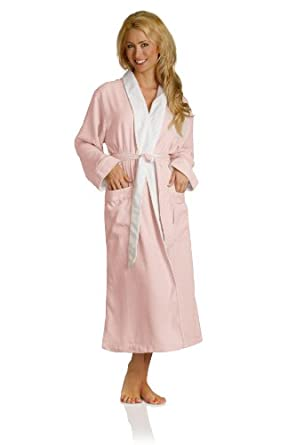 Luxury Spa Robe - Microfiber with Cotton Terry Lining, Pink, X-Small