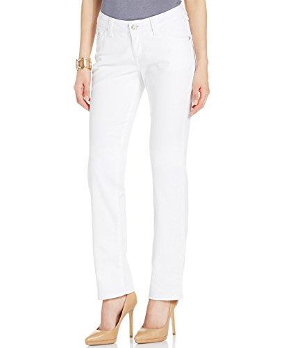 Lee Platinum Label White Womens Mid Rise Straight Leg Jeans 8 (Platinum Label Womens compare prices)
