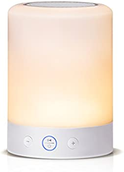 Tomons Bedside Night Light Lamp w/Bluetooth Speaker (White)