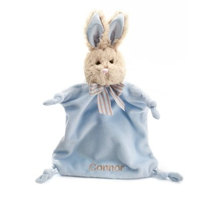 Personalized, Embroidered Stuffed Bunny Blankie front-526724