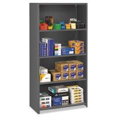 ** Closed Commercial Steel Shelving, 5 Shelves, 36w x 24d x 75h, Medium Gray *