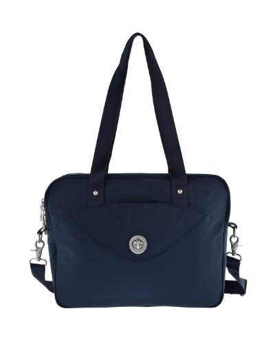 Baggallini Luggage Athens Laptop Case, Navy, One Size