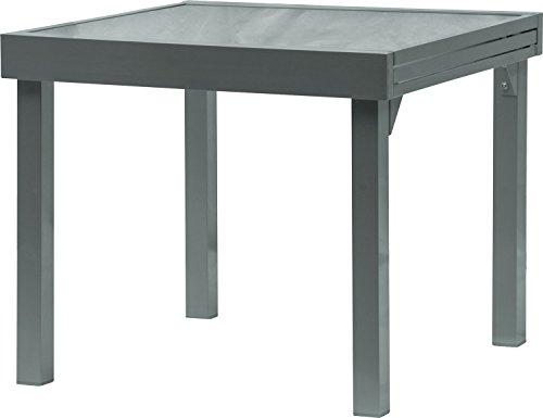 IB-Style-DIPLOMAT-Gartentisch-XL-Aluminium-SCHWARZ-Premium-Ausziehtisch-90-180-cm-Gartentisch