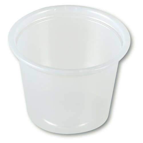 SOLO P100N 1.0 OZ PS PORTION CONTAINER (10 Packs of 250) (1 Oz Plastic Cups compare prices)