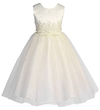eb1afdc3297c9 KID Collection Girls Cinderella Tulle Flower Girl Pageant Dress