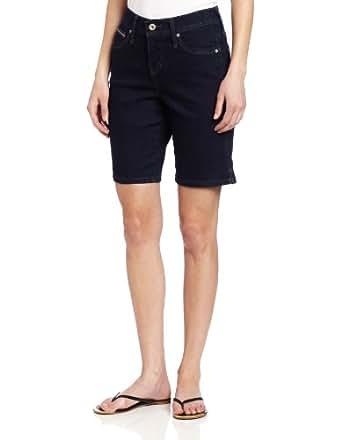 Levi's Women's Petite 512 Bermuda Short, Easy Blue, Medium 2