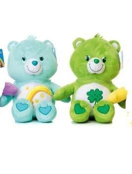 2-peluches-bisounours-30-cm-1-verte-1-turquoise