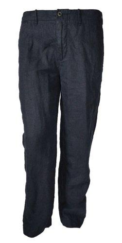 Polo Ralph Lauren Tulum Mens Navy Blue 100% Linen Flat Pants-Navy Blue-36W X 30L