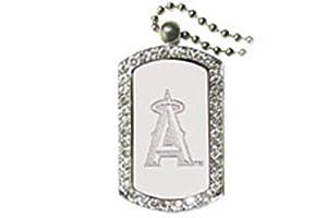 Los Angeles Angels LA Dog Tag Necklace With Swarovski Crystals