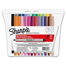 Sharpie Ultra-Fine-Point Permanent Markers, 24 Colored Markers (75847)...