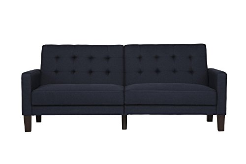 dhp paris futon with independently encased coils navy furniture futons. Black Bedroom Furniture Sets. Home Design Ideas