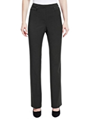 M&S Collection 2 Zip Pocket Straight Leg Trousers