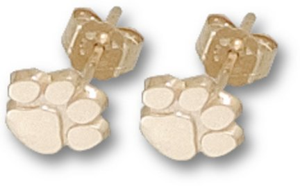 10K CLEMSON UNIV PAW POST EARRINGS