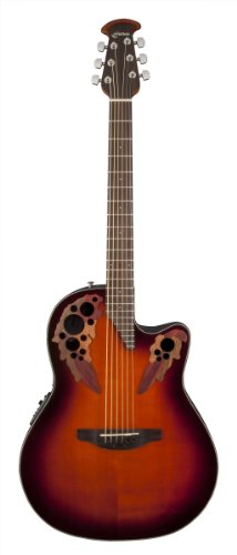 Ovation Ce44-1 Acoustic-Electric Guitar, 2-Tone Sunburst