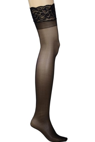 Plus Size Hosiery Sheer Lace Top Thigh High Stockings