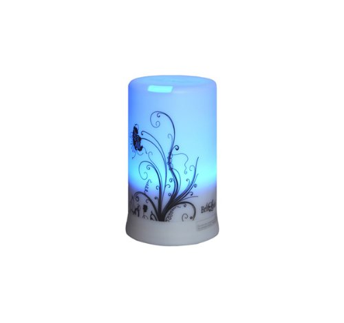 BriteLeafs 2-in-1 Ultrasonic Aroma Diffuser Ultrasonic Humidifier - 4 Timer Settings & 6 Color Light Changes + Free 10ml Aromatherapy Essential Oil (Lavender)
