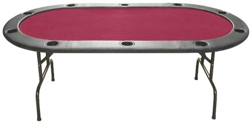Why Should You Buy Trademark Poker Full Size Texas Hold'em 83 x 44-Inch Poker Table (Burgundy Felt)