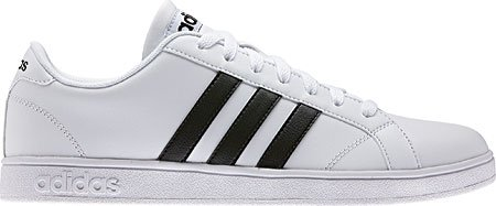 Adidas NEO Men's Baseline Fashion Sneaker, White/Black/White, 11 M US