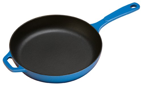 Lodge EC11S33 Enameled Cast Iron Skillet, 11-inch, Caribbean Blue (Cast Iron Cookware Porcelain compare prices)