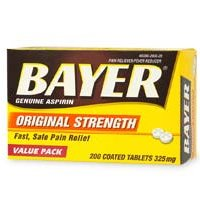Buy Bayer Aspirin Pain Reliever 325Mg --- 200 Tablets (Bayer, Health & Personal Care, Products, Health Care, Pain Relievers, Aspirin)