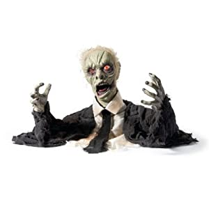 Amazon.com: Larry the Zombie Animated Halloween Prop - Halloween ...