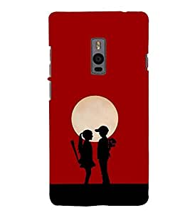 Love Couple 3D Hard Polycarbonate Designer Back Case Cover for OnePlus 2 :: OnePlus Two :: One +2