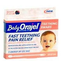 Baby Orajel Teething Swabs for Fast Teething Pain Relief - 12 CT