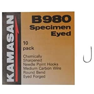 Kamasan B980 Barbed Specimen Eyed Hooks by Kamasan