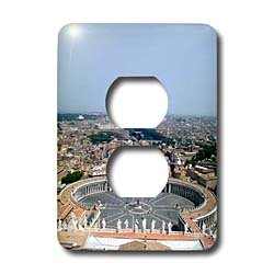 Vacation Spots - The Vatican Square - Light Switch Covers - 2 plug outlet cover