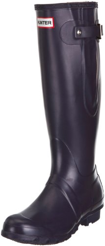 Hunter Unisex-Adult Original Adjustable Aubergine Wellington Boot W23706 5 UK