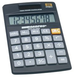 Dual Power 8 Digit Calculator-2Pack