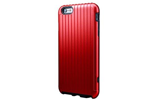 <iPhone 6s Plus 対応>PRECISION Hybrid Case for iPhone 6 Plus 意匠出願中 ICカードポケット 磁気シールドシート ストラップホール iPhone6Plus iPhone5.5 SL344 Suica PASMO manaca TOICA PiTaPa ICOCA SUGOCA nimoca はやかけん Edy iD nanaco WAON QUIKPay (Red)