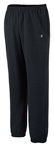 Champion Eco Fleece Elastic-Hem Men's Sweatpants_Black_Medium