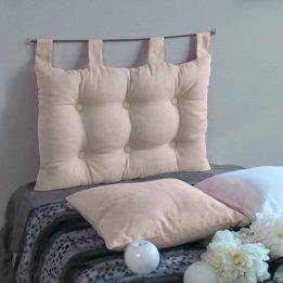 Enjoy Home 2007CHTL070045 - Testiera da letto in tessuto, 70 x 9 x 45 cm, Tessuto, ecru, 9 X 45 CM