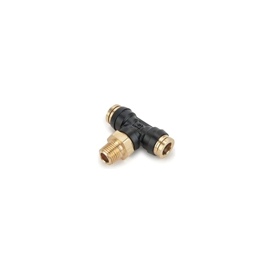 Legris 372PTC 6 8 Nylon & Nickel Plated Brass Air Brake Push to Connect Fitting, Branch Tee, 3/8 Tube OD x 1/2 NPT Male