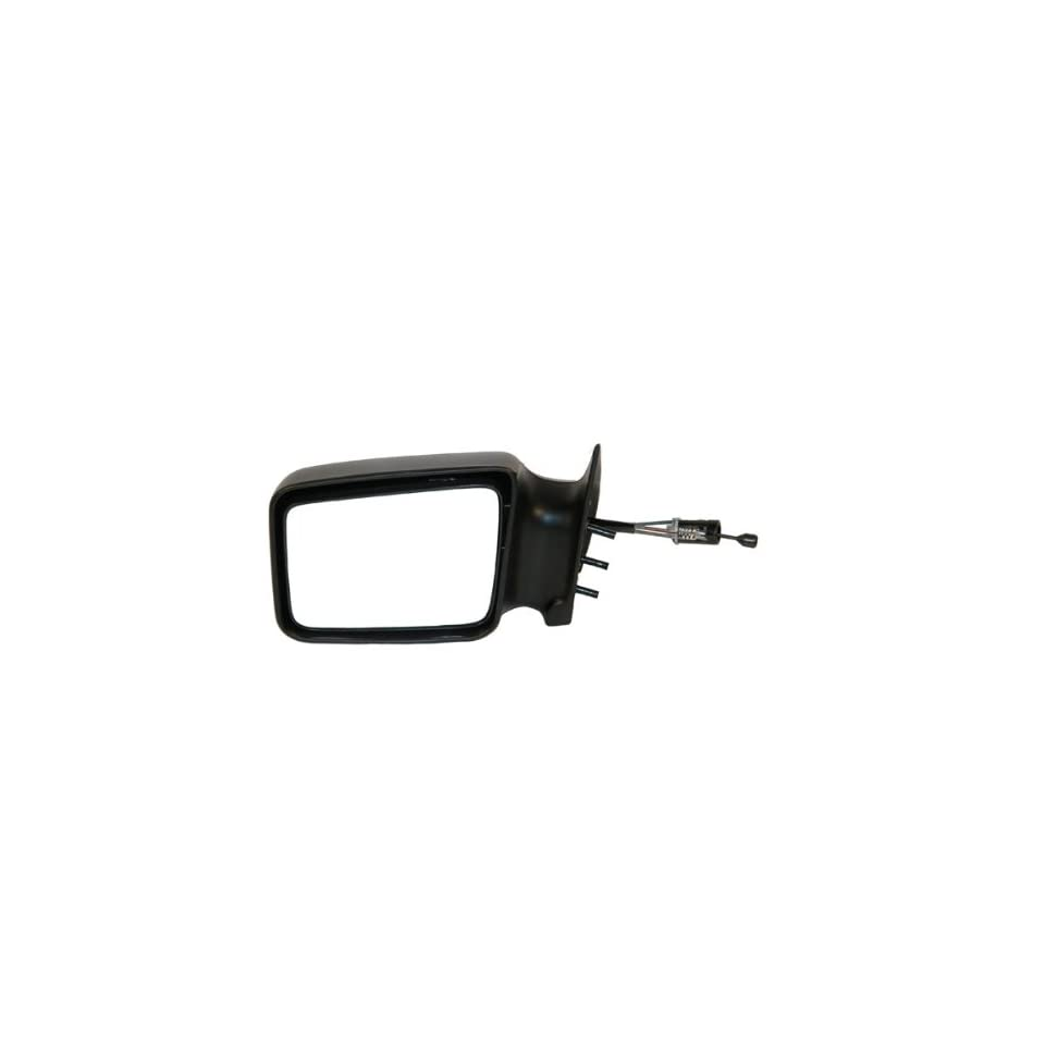1984 1990 Dodge Caravan, Plymouth Voyager, Grand Voyager, Grand Caravan Manual Remote Cable Black paint to match Non Folding Fixed Rear View Mirror Left Driver Side (1984 84 1985 85 1986 86 1987 87 1988 88 1989 89 1990 90)