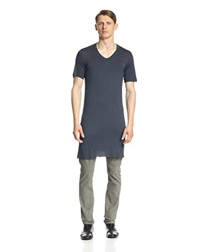 Rick Owens Men's Short Sleeve V-Neck Shirt